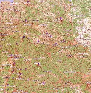 Karte der Freien Radios